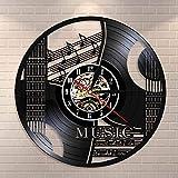 Music It's Not What I Do, It's Who I Am Musical Cote Rock n Roll Decoración del hogar Guitarra Reloj de pared Vintage Vinilo Record