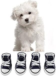 KEESIN Zapatos de Lona Antideslizantes para Perros Cachorros, Protectores de Piernas para Perros, Zapatos Casuales al Aire Libre para Perros #2