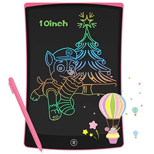 GUYUCOM Tableta de Escritura LCD de10 Pulgadas,Pizarra Digital para Niños,Universal para Ambas Manos, Pizarra Magica de Líneas Brillantes y Coloridas,Excelentes Tablet para Dibujo para Niños y Niñas