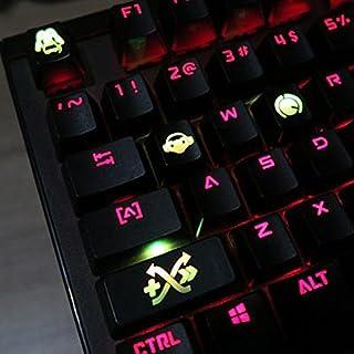 Todos los Overwatch de decoración tema Keycaps grabado resina térmica por sublimación llave tapas para teclados mecánicos (Cherry interruptores) con funda de regalo -