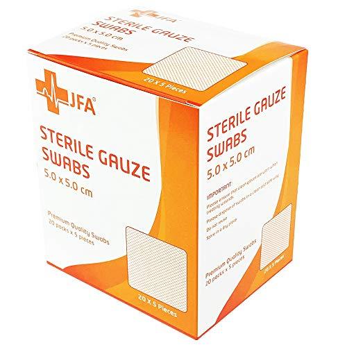 Premium Sterile Gauze Swabs 5cm x 5cm - Pack of 100