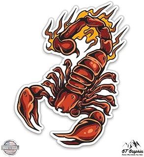 GT Graphics Red Scorpion on Fire - Vinyl Sticker Waterproof Decal