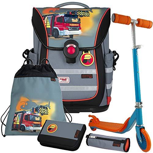Feuerwehr - Firefighter - McNeill Ergo Pure Flex Schulranzen-Set 5 TLG. - Scooter GRATIS!