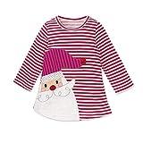 Riou Weihnachten Baby Kleidung Set Pullover Outfits Winteranzug Kinder Baby Mädchen Deer Gestreifte Prinzessin Kleid Weihnachten Outfits Kleidung (90, Rot)