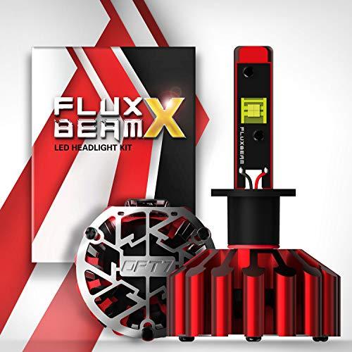 OPT7 FluxBeam X V2 9005 LED Headlight Bulbs w/Arc-Beam Lens - 13,000LM 6000K Daytime White - All Bulb Sizes - 140w - 2 Year Warranty