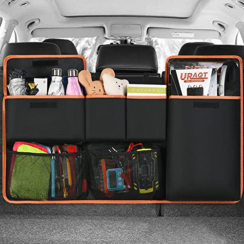 URAQT Organizer Bagagliaio Auto, Super Capacità Universale Organizer Auto, Protezione Sedile Auto Bambini Impermeabile per SUV Minivan Camion