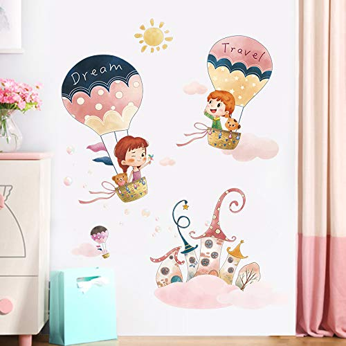 Creatieve hete lucht ballon muur Stickers meisje kamer slaapkamer warme muur Stickers nachtkastje decoratie kast deur Stickers