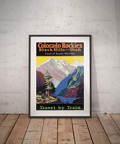 Rac76yd Colorado Rockies Colorado Rockies Póster de viaje Colorado Rockies Poster Colorado Rockies Póster de viaje Decoración de pared