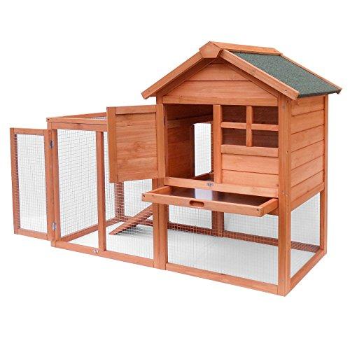 Gabbia per lepri e conigli. Più spazio esterno per il rifugio degli animali. Stalla in abete