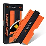 Anrapley Contour Gauge Shape Duplicator 10 Inch with Adjustable Lock, Profile Tool Widen size, Precisely Copies Irregular and Awkward Shapes - Must Have Tool for DIY Handyman, Construction