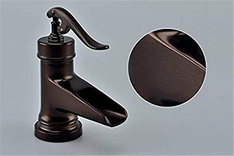 redOOY Taps Vintage Copper Black Bathroom Counter Basin Faucet Washbasin Antique Platform Faucet,A Taps