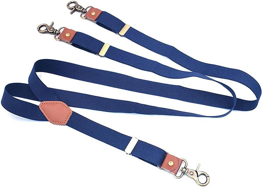Men Fashion Suspenders Hook Elastic Adjustable Suspensorio Bretelles Tirantes Casual Trousers Belt 2.5Cm