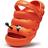 Kids Clogs Toddler Sandals Children's Classic Garden Shoes Slip On Lightweight Non-Slip Shoes for Boys and Girls Beach Pool Shower Slippers,Summer Little Kids, Water Shoes Orange