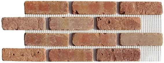 Brickweb Thin Brick Box of Dixie Clay Flat Sheets - 8.7 Sq. Ft.