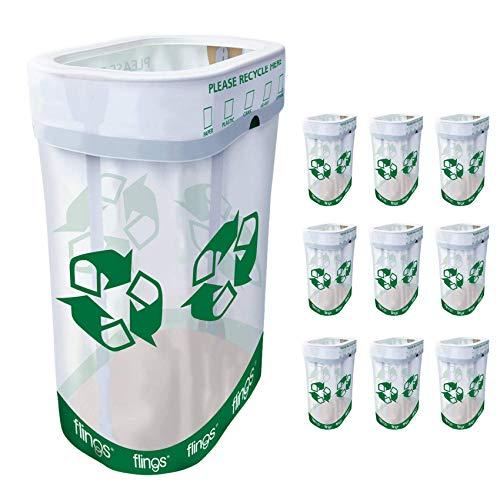 Trashco Flings Bins POP UP Recycle Bins  10 Pack