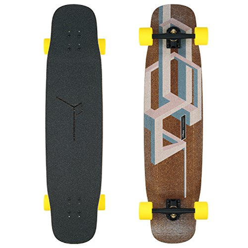 Loaded Boards Tesseract Bamboo Longboard Skateboard Komplett, Nude (Basalt Version)