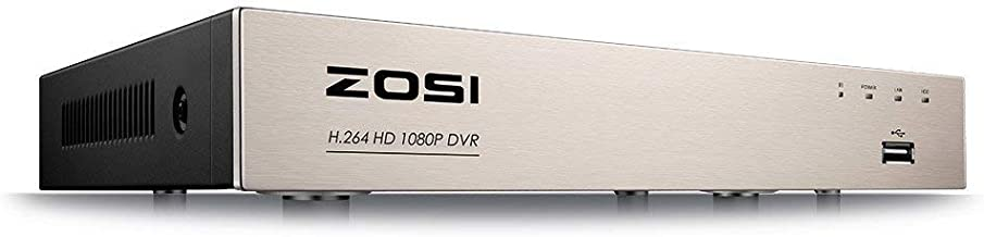 ZOSI Full 1080P High Definition 8 Channels Hybrid 4-in-1 HD TVI DVR Video Recorder CCTV Network Motion Detection for Surveillance Security Camera System Real Time Recording Mobile Phone Monitoring