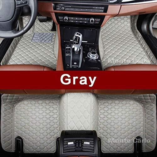 LUOLONG Vloermatten voor in de auto, op maat gemaakte vloermatten voor in de auto, speciaal voor Jaguar F-type F-Pace Xe Xf Xj Xjl Xk voor alle weersomstandigheden, vloerbedekking Grijs