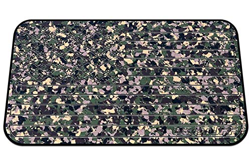 USATuff Cooler Pad - Fits YETI Tundra 35qt - SeaDek Marine Grade EVA Mat - ArmyCamo/Black - USA Flag