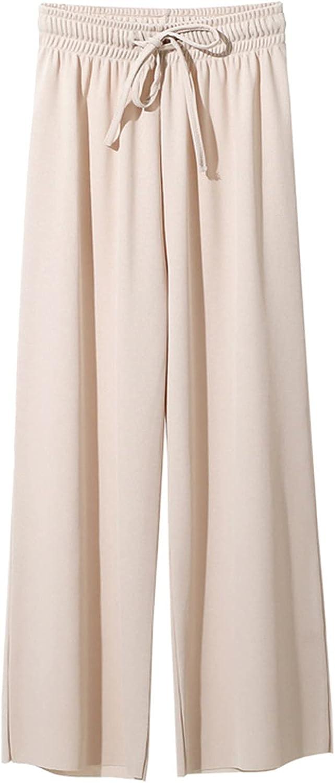 Pajamas Pants Women Wide Leg Baggy Lounge Pants Tie Dye Silk Sleep Bottom Loose High Waist Summer Yoga Pant