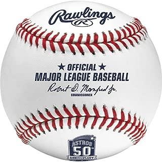 Rawlings ROMLBAST50 2015 Houston Astros 50th Anniver Baseball Official MLB ROMLB