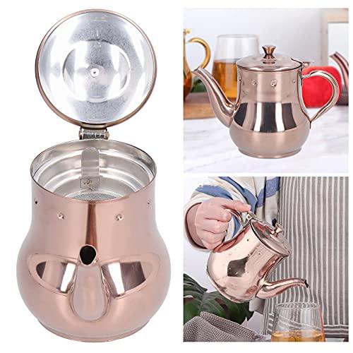 Cafetera, Tetera de Oro Rosa 500 ml de Acero Inoxidable para Bares para la Familia para el té de la Tarde