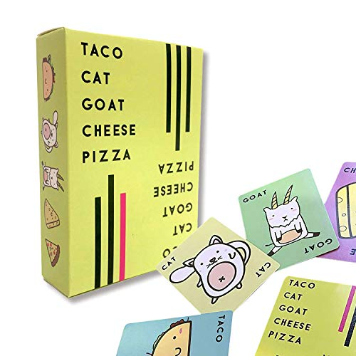 Yolanda Medina Taco Cat Goat Cheese Pizza Party Games, Interactive Card Party Family Game Puzzle Card Game for Kids Diversión Juegos