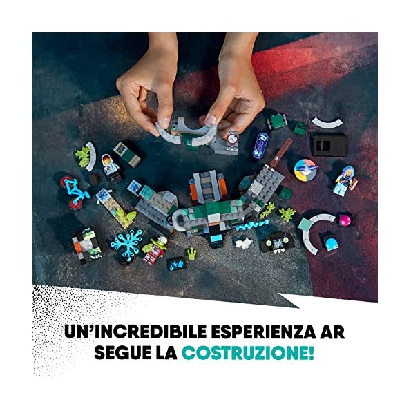 LEGO-Hidden-Side-la-Metropolitana-di-Newbury-Dai-la-Caccia-ai-Fantasmi-Nella-Realt-Aumentata-in-Modalit-Single-o-Multiplayer-Multicolore-70430
