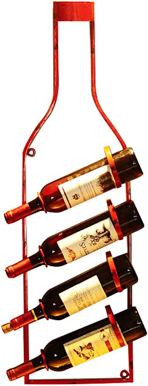 Wine Rack Vintage Industrial Wall Decoration Wine Rack Wall Hanging Iron Wine Bottle Ornament Bar Restaurant Wall Decoration