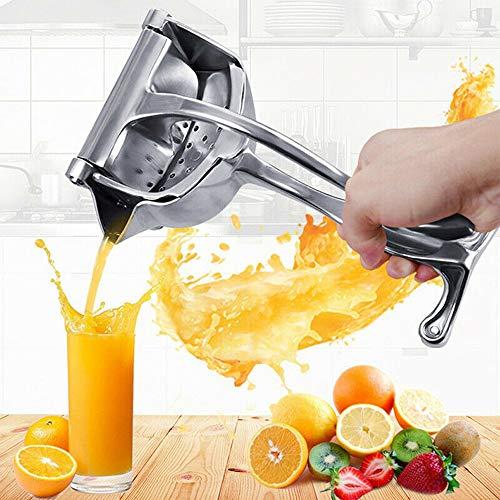 Espremedor manual de suco de limão de aço inoxidável, espremedor de frutas atualizado, espremedor manual para apertar as mãos, laranjas manuais cítricos resistentes, maçã, suco