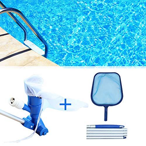 ANLEM Pool Tief Kescher Schwimmer Pool Skimmer Set Kit Pool Staubsauger für Pool Teich Brunnen Reinigung, Blätter, Schmutz und Sand, Schlick