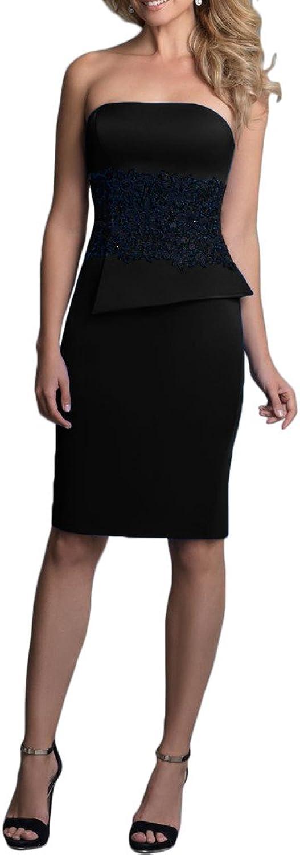 Avril Dress Satin Sheath Mini Length Strapless Cocktail Homecoming Dress