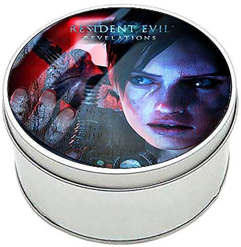 MasTazas Resident Evil Revelations Jill Valentine Caja Redonda Lata Round Metal Tin Box