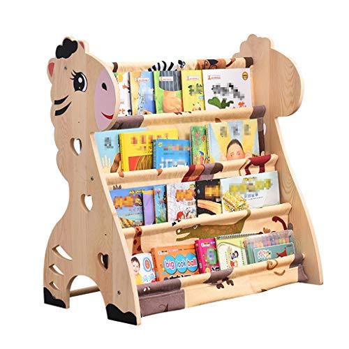 Baby Kindermöbel Möbel Wohnaccessoires Kinderregale Baby Bücherregal Vollholz Cartoon Baby Finishing Lagerregal Baby Figur Buchregal Einfache Junge und Mädchen Spielzeug Rack