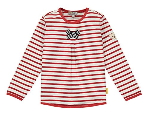 Steiff Mädchen T-Shirt Langarm Langarmshirt, Rot (Tango Red 4008), (Herstellergröße: 116)