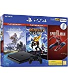 PlayStation 4 500 GB (PS4) + Spiderman + Horizon Hits + R&C Hits [Edizione: Spagna]