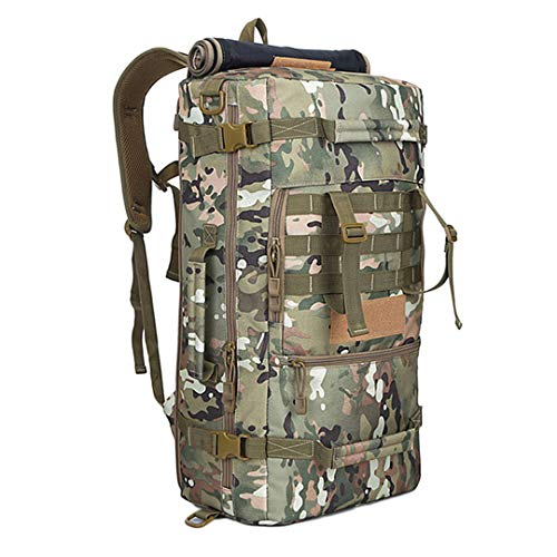 RatenKont 50L Military Tactical Camping Bags Mountaineering Hiking Rucksack Travel Backpack E
