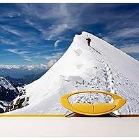 Bosakp 登山遠征雪3 D立体大壁画リビングルーム廊下寝室テレビ背景壁紙 100X50Cm