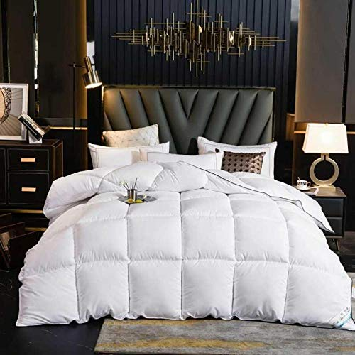 CHOU DAN waterproof duvet protector single,Winter quilt single student thickened quilt to keep warm double down dormitory-180x220cm 4000g_Duvet white