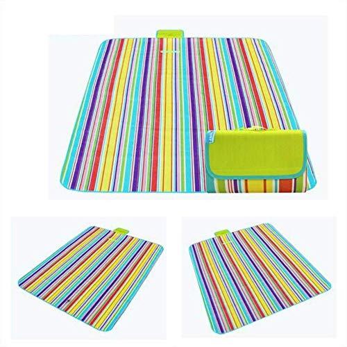 ZRR - Esterilla plegable para camping, playa, picnic, resistente al agua, multicolor, 200x150cm