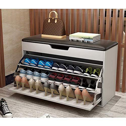 FCSFSF Cambio de gabinete de Zapatos para el hogar Zapato Almacenamiento de Zapatos Taburete de Zapatos Multicapa Almacenamiento Simple Zapatero para Polvo (Color: C, Tamaño: 100 cm)