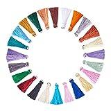NBEADS 78 Stücke verschiedene Farben seidig handgemachte kleine weiche Quasten