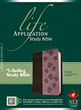 NLT Life Application Study Bible, Second Edition, TuTone (Red Letter, LeatherLike, Dark Brown/Pink Flowers)