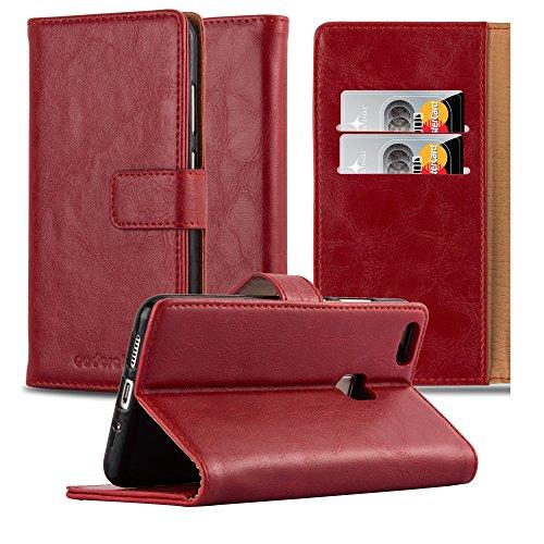 Cadorabo Funda Libro para Huawei P10 Lite en Rojo Burdeos - Cubierta Proteccíon con Cierre Magnético, Tarjetero y Función de Suporte - Etui Case Cover Carcasa