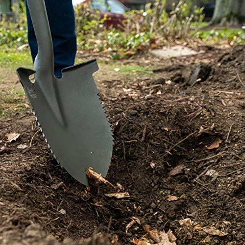 Radius Garden 23211 Root Slayer Round Head Shovel XL, Root Slayer Round Head Shovel XL, Red