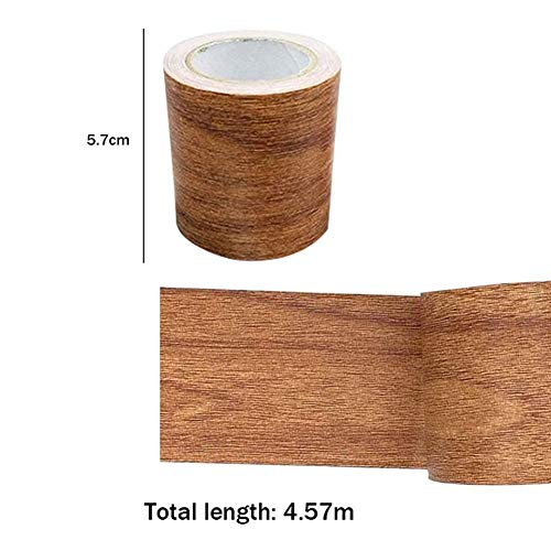 Lanbowo Vetas de la Madera Reparar Cinta Parche Madera Texturizado Muebles Cinta Adhesiva Fuerte Viscosidad Impermeable - Chocolate Color
