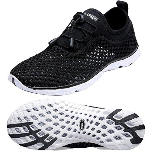 Zhuanglin Men's Lightweight Aqua Water Shoes Beach Sneakers