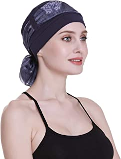Elegant Chemo Cap With Silky Scarfs For Cancer Women Hair Loss Sleep Beanie 89fc96bfb55f