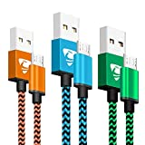 Micro USB Cable 2M 3Pack Aione Android Charger Cable Nylon