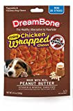 Dreambone Chicken Wrap Mini Stick Small Breed Peanut Butter Chews Dog Treat, 20 Ct (1)